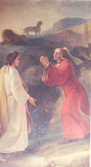 Dante soccorso da Virgilio