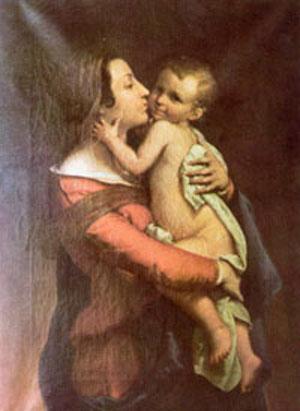 La Madonna bacia il Bambino